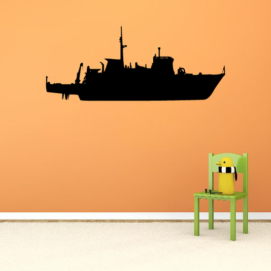 Minesweeper Boat Decal