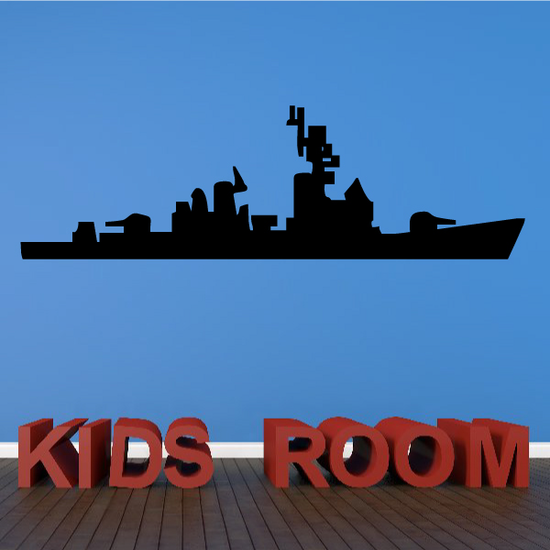 Guided Missile Destroyer Ship Decal