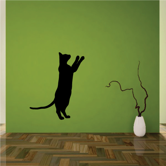 Siamese Cat Pawing Up Decal