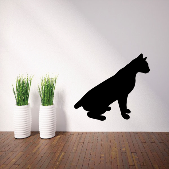 Siamese Cat Wall Pose Sitting Decal