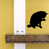 Cat Licking Itself Silhouette Decal