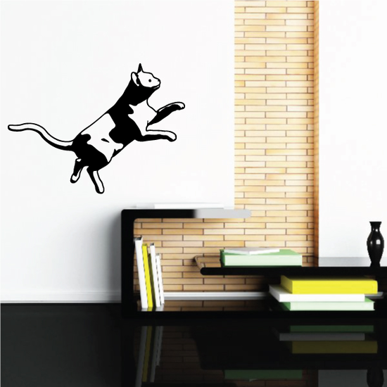 Leaping Up Cat Decal