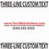 Custom Three Line Text Decal