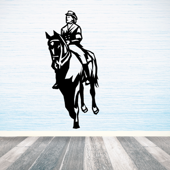 Horse Racing Wall Decal - Vinyl Decal - Car Decal - SM004