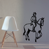 Horse Racing Wall Decal - Vinyl Decal - Car Decal - SM008