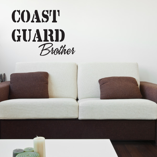 Coast Guard Brother Decal