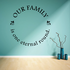 Our Family is on eternal round Decal