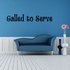 Called to serve Curly Decal