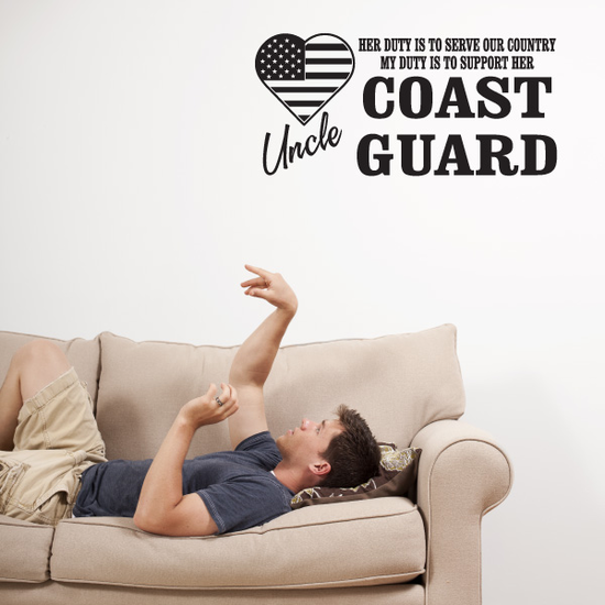 Her Duty Uncle Coast Guard Decal