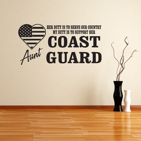 Her Duty Aunt Coast Guard Decal