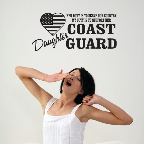 Her Duty Daughter Coast Guard Decal