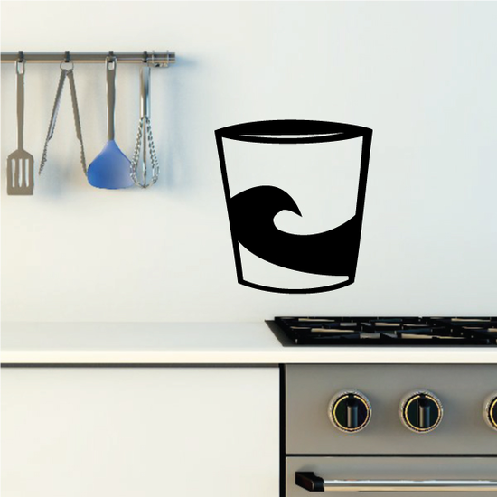Cup with Wave Decal