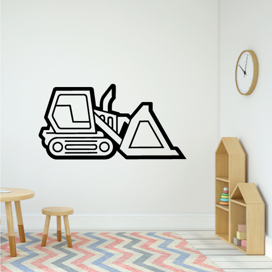 Graphic Bulldozer Decal