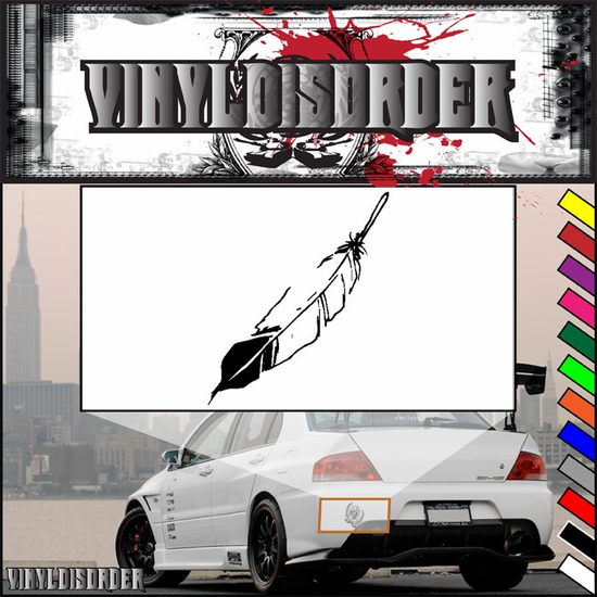 Dark Tipped Feather Decal