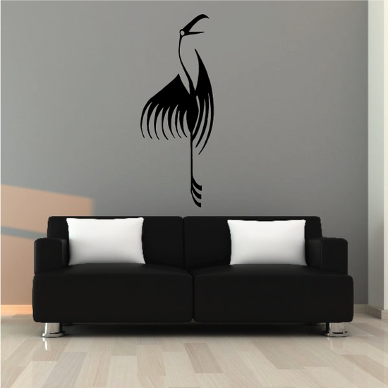 Abstract Flamingo Decal