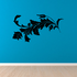 Dreamy Floral Grape Vine Wall Decal - Vinyl Decal - Car Decal - BA022