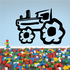 Illustrated Tractor Decal