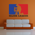 Major Leage Respect Printed Die Cut Decal