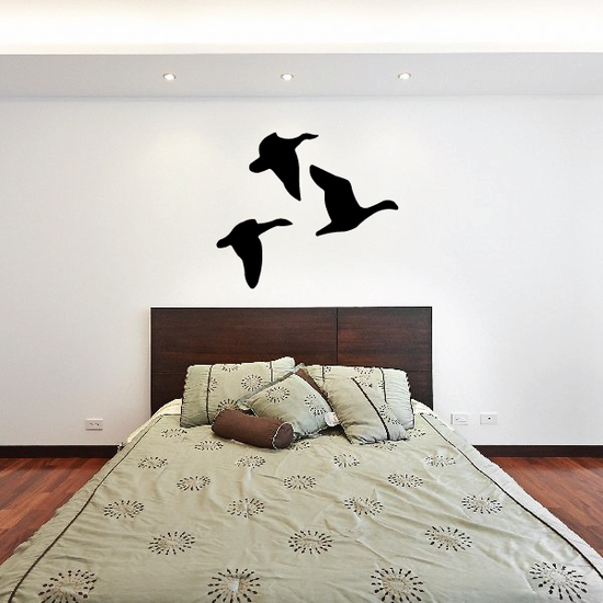 Three Flying Geese Decal