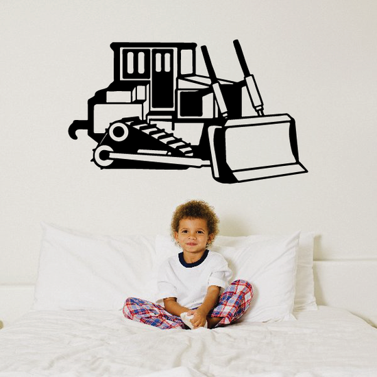 Old Fashioned Bulldozer Decal