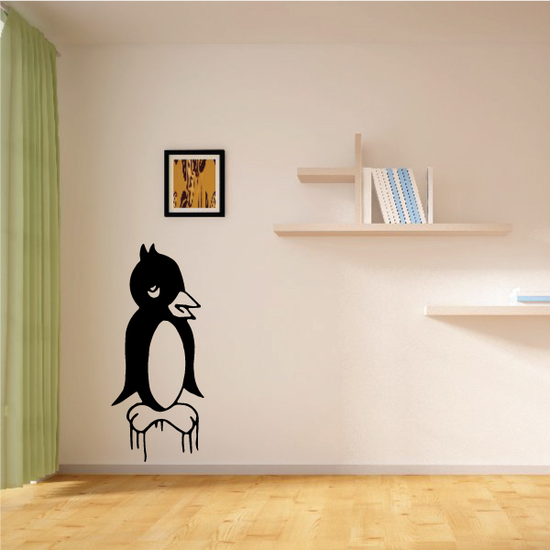 Kids Penguin Standing on Ice Decal