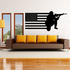 America Flag with Aiming Soldier Decal