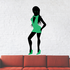 Party Girl In Green Dress and Shoes Sticker