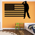 America Flag with Saluting Soldier Decal