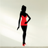 Girl Wearing Red Nities and Heels Sticker