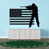 America Flag with Ghillie Suit Sniper Decal
