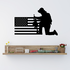 America Flag with Modern Soldier Praying Decal