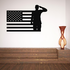 America Flag with Salute Decal