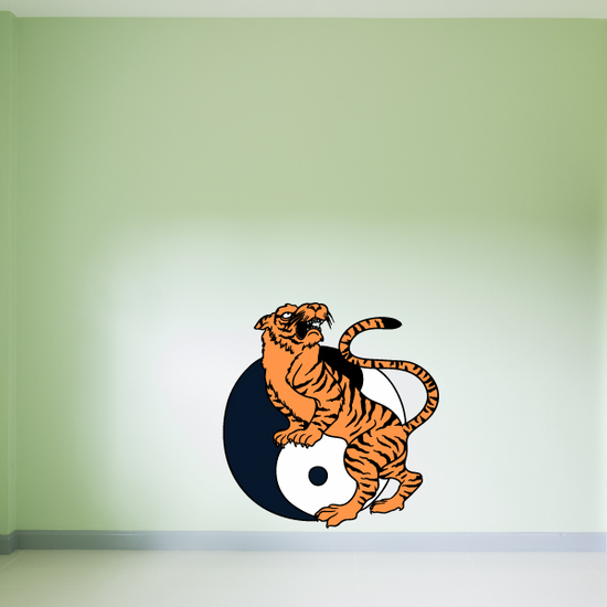 Tiger Yin Yang Sticker