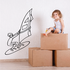 Wind Surfer Surfing Wall Decal - Vinyl Decal - Car Decal - MC002