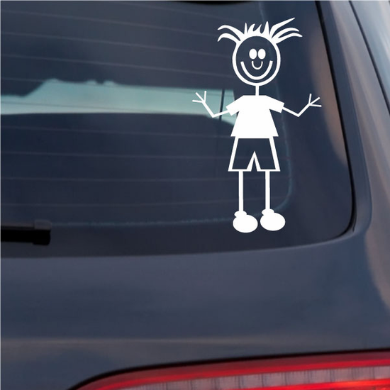 Dad with Clothes and Frizzly Hair Decal