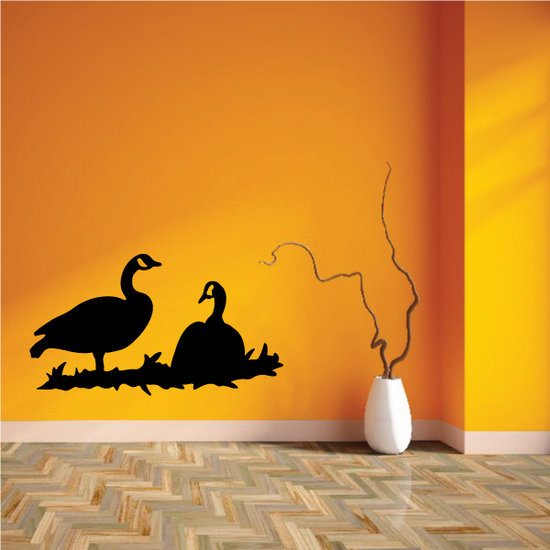 Two Geese on Grass Decal