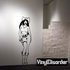 Nude Cowgirl with Holstered Gun Decal