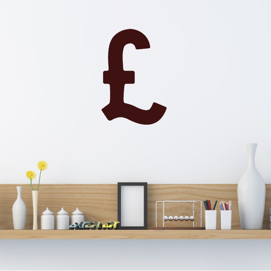 Pound Currency Symbol Decal