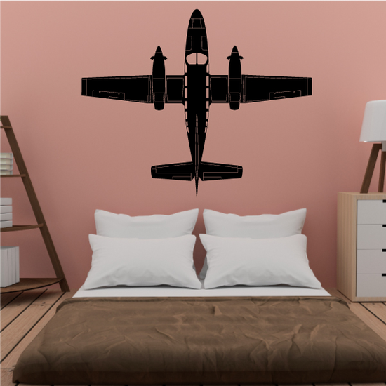 Detailed Private Plane Decal