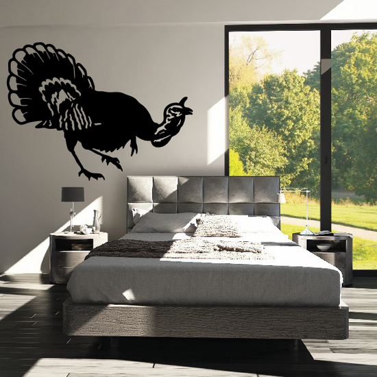 Cawing Turkey Decal