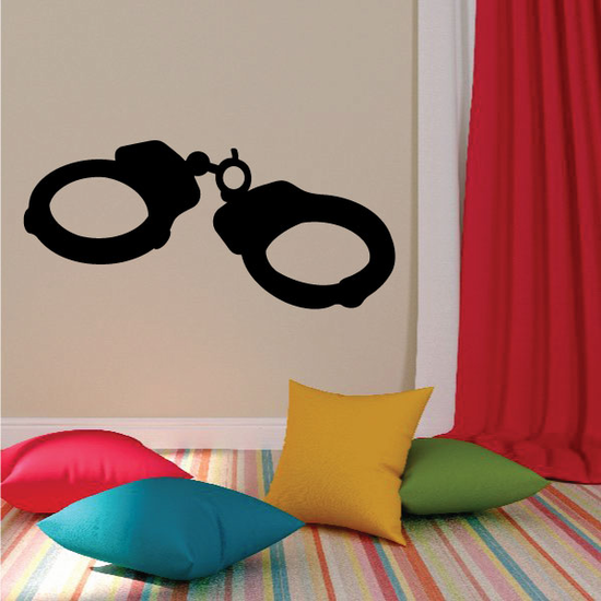 Hand cuffs Wall Decal - Vinyl Decal - Car Decal - Mv001