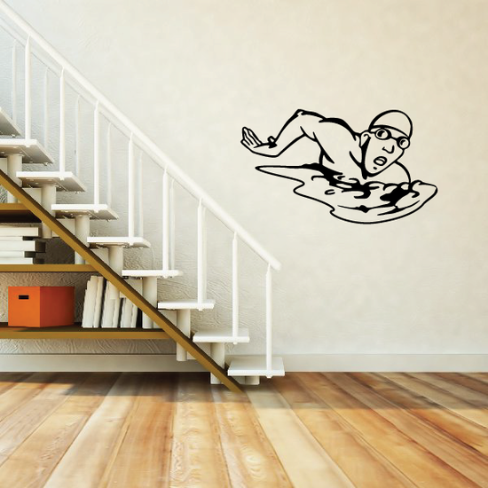 Swimming Wall Decal - Vinyl Decal - Car Decal - CDS002