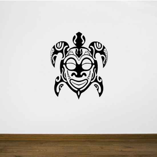 Native Indian Style Sea Turtle Decal