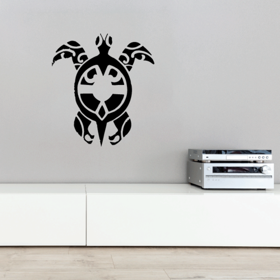 Tribal Swimming Sea Turtle Decal