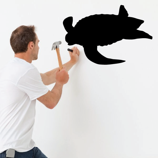 Floating Sea Turtle Decal