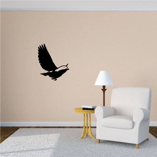 Bluebird Hovering Decal