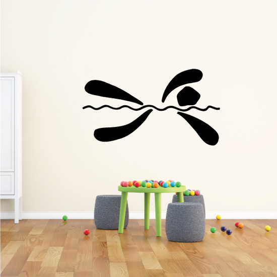 Swimming Wall Decal - Vinyl Decal - Car Decal - Bl014
