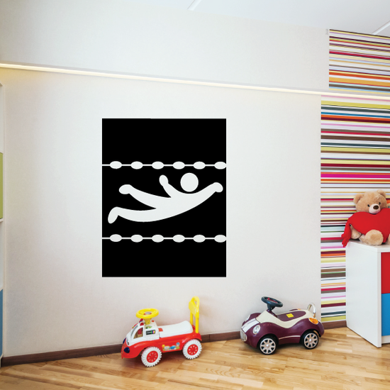 Swimming Wall Decal - Vinyl Decal - Car Decal - Bl015