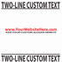 Custom Two Line Text Decal