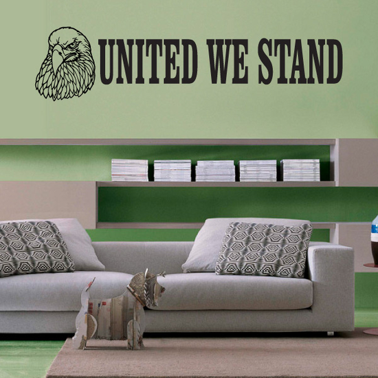 United We Stand Eagle Decal